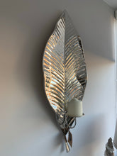 Large Silver Leaf Candle wall Sconce