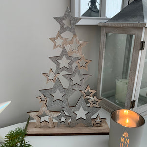 Star Glitter Wooden Tree