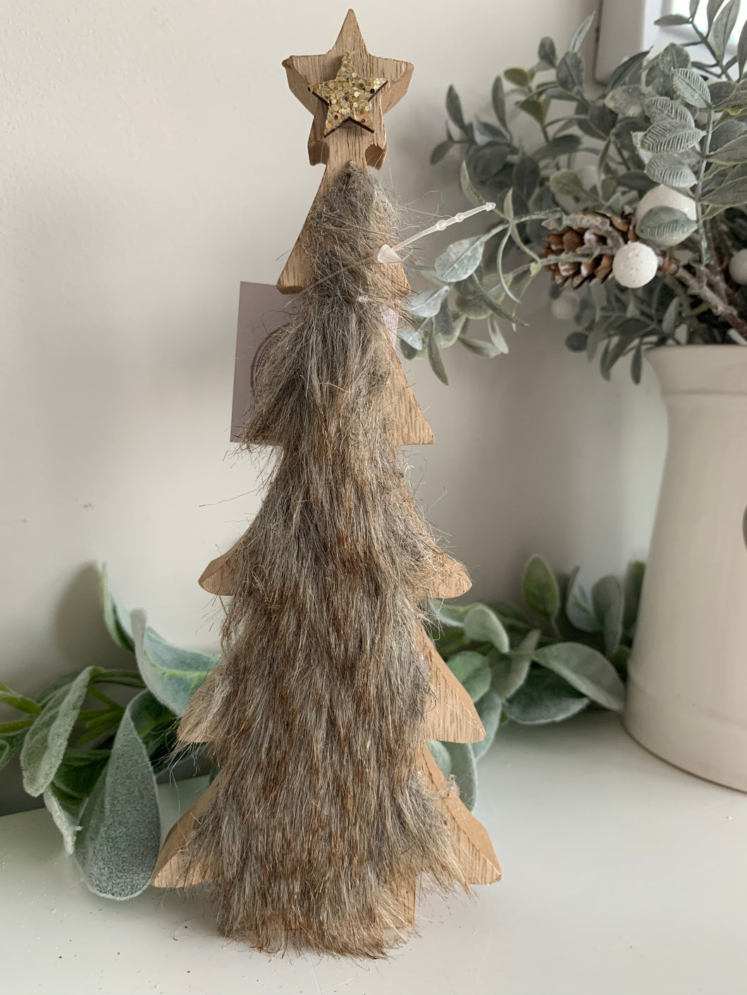 Faux fur tree with Star