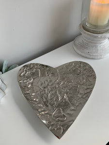 Embossed heart shaped bowl