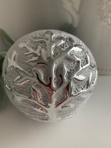 Silver Tree of Life Decorative Ball