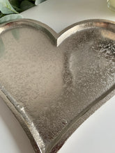 Silver Metal Heart shaped dish