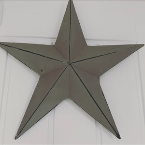 Distressed Grey Metal Barn Star
