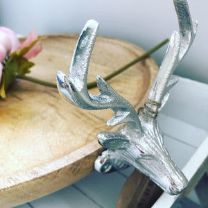 Natural Wood Cake Stand with Stag Detail
