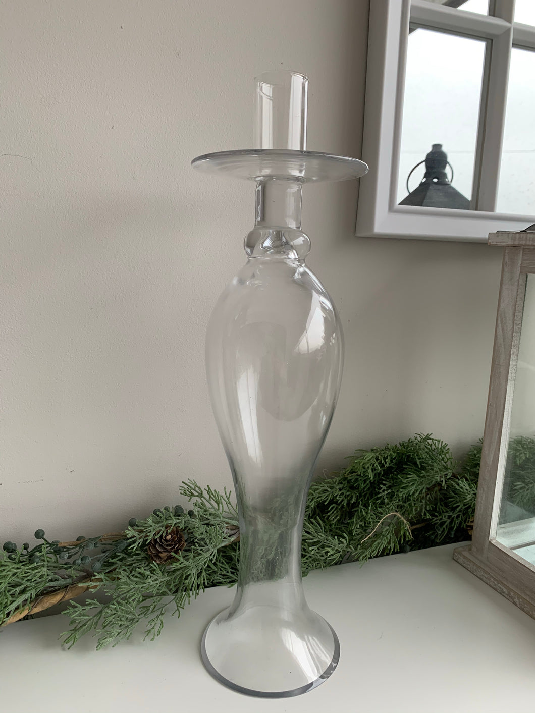 Tall Glass Candle Holder