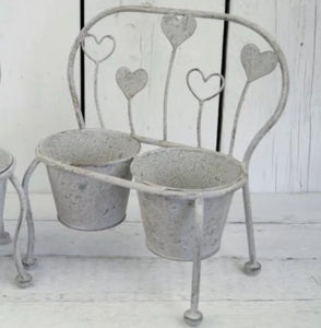 Grey Outdoor Planter Bench Planter Shabby Chic Planter