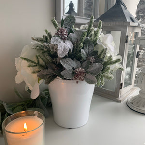 Christmas Arrangement in White vase