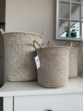 White Seagrass Storage Baskets