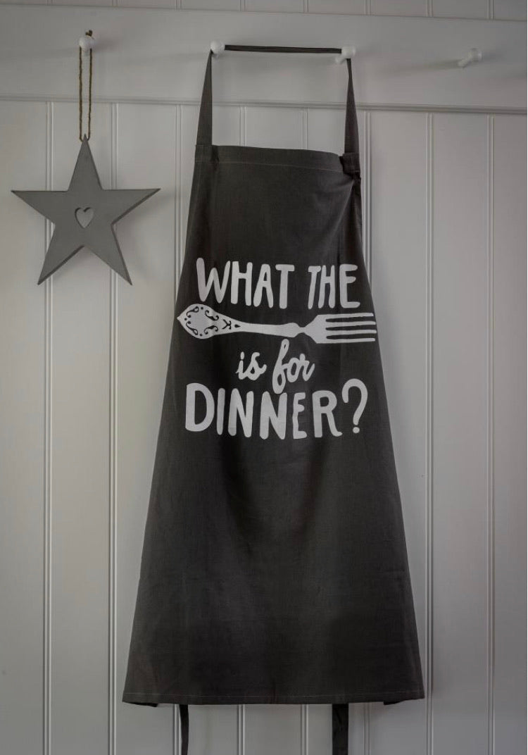 Grey Slogan Apron