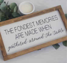"""The fondest memories"" Wall Plaque"