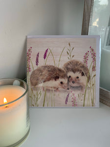 Hedgehog Lavender Card
