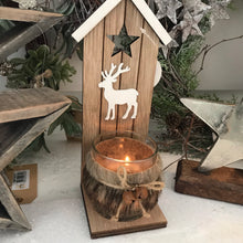Rustic Faux Fur Candle Holder