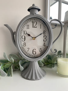 Large Grey Teapot clock