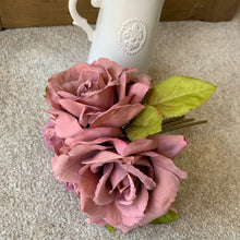 Puce Open Rose bunch