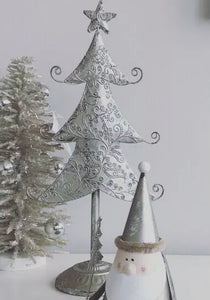 Tarnished Silver Decorative Tree 28cm