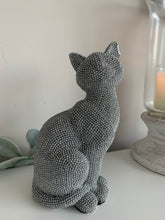 Silver Diamante Cat