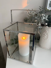 Cubed Lantern with LED Candle