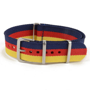 Blue Red Yellow NATO Strap (N013)