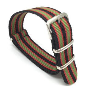 Black Red Green NATO Strap (N010)