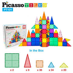 Picasso Tiles 3D Magnetic Building Block Tiles Set 101