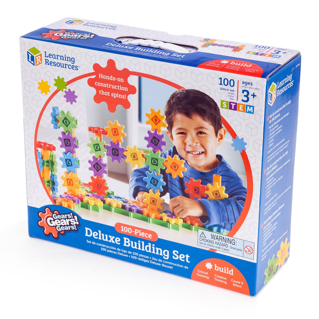 Learning Resources Gears! Gears! Gears!® Deluxe Building Set, Gear Toy, 100 Pieces