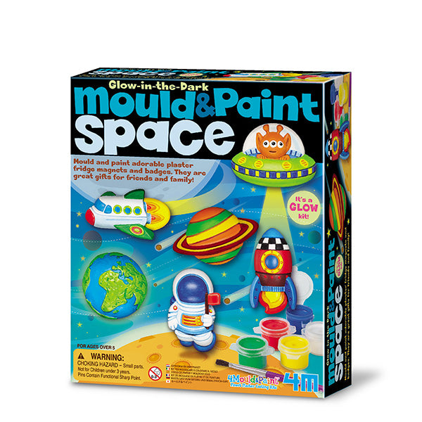 4M Mould & Paint - Glow in the Dark Space Kit