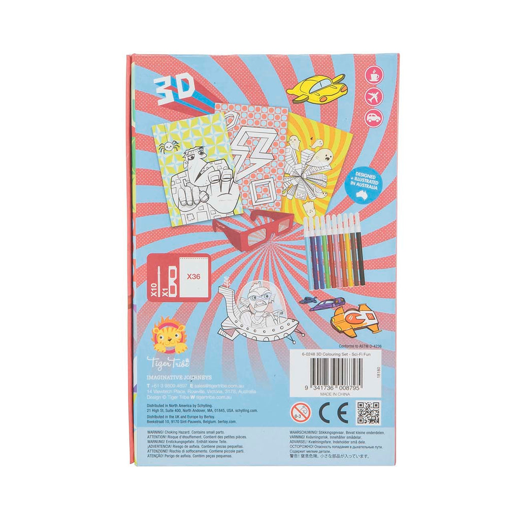 3D Colouring Set Sci-Fi Fun