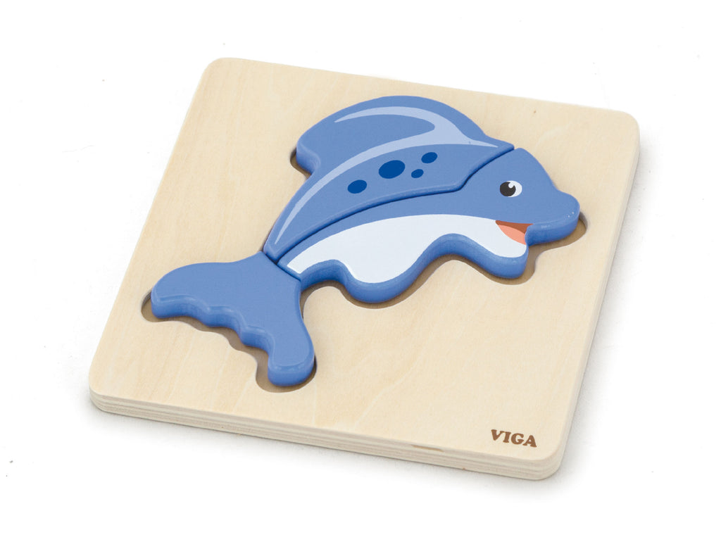 Viga Handy Block Puzzle - Fish
