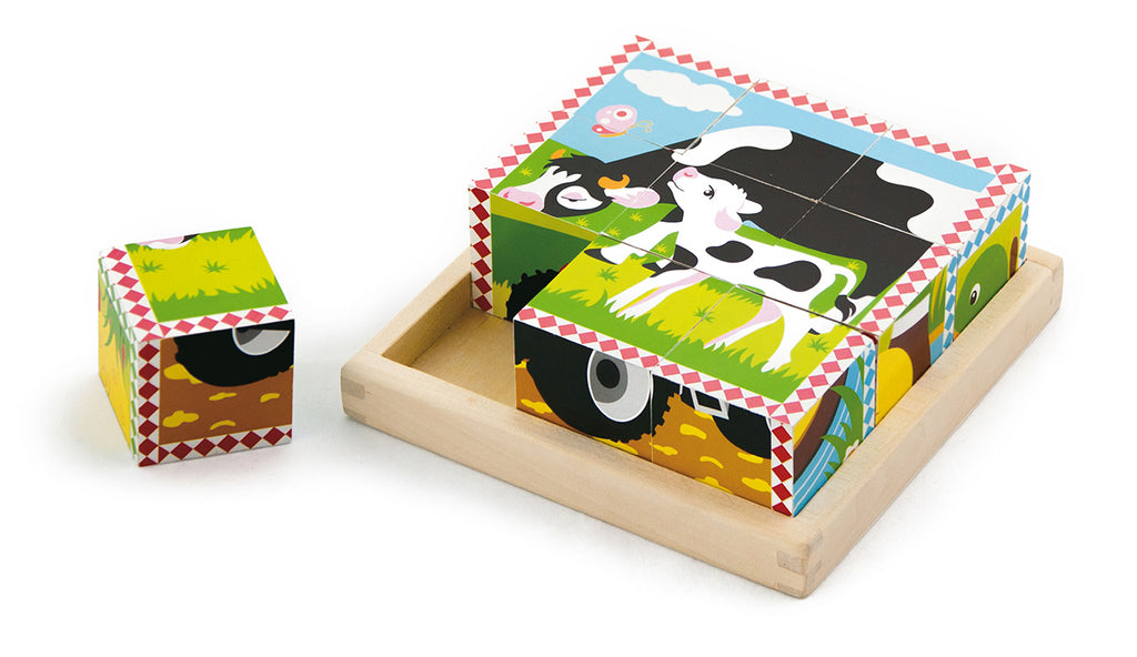 Viga 6-Side Puzzles - Farm Animals