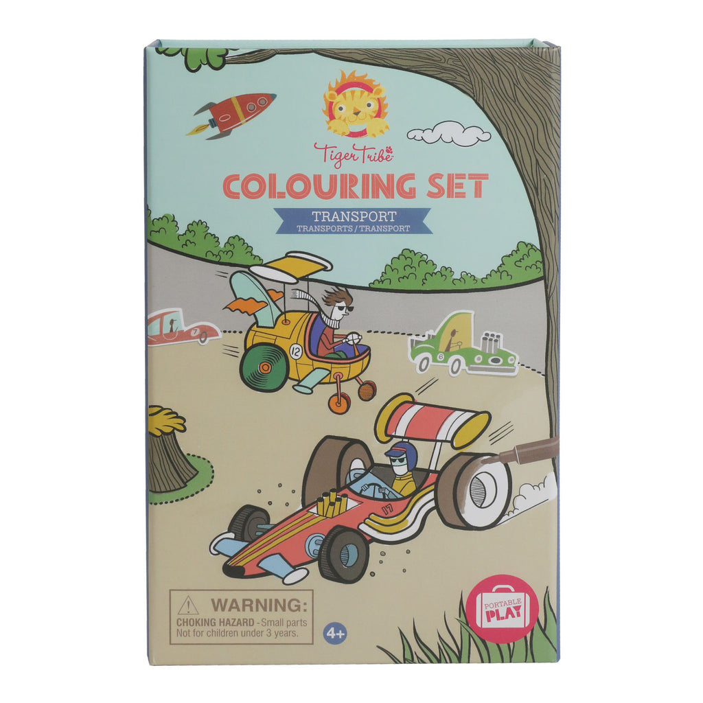 Tiger Tribe Colouring Set - Transport