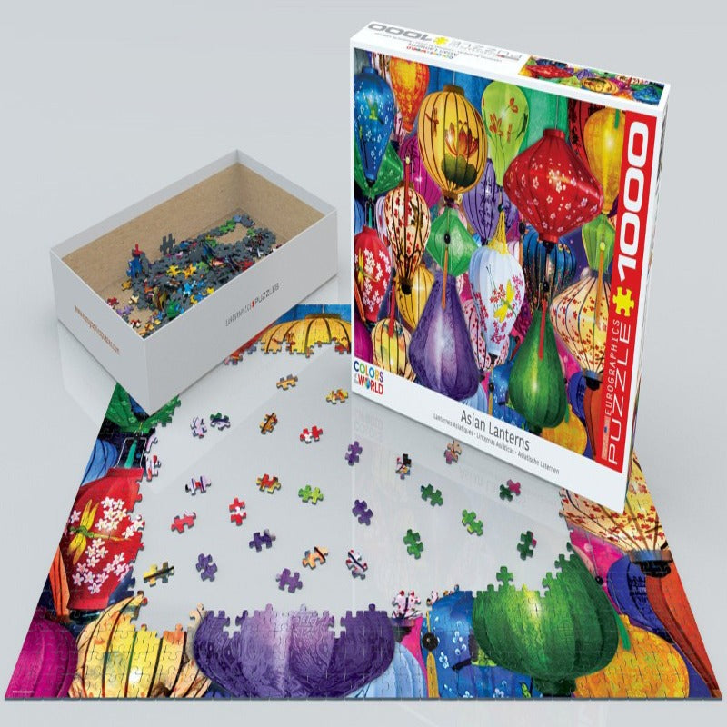 EuroGraphics Asian Lanterns 1000 Pieces Puzzle