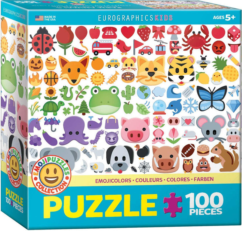 EuroGraphics Emoji Colors 100 Pieces Puzzle