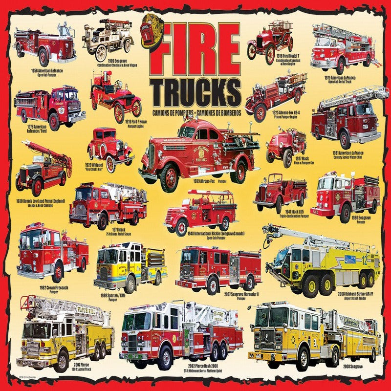 EuroGraphics Fire Trucks 100 Pieces Puzzle