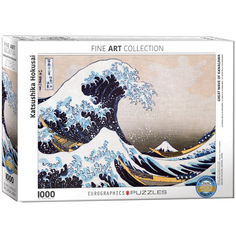 EuroGraphics Great Wave Of Kanagawa By Katsushika Hokusai 1000 Pieces Puzzle