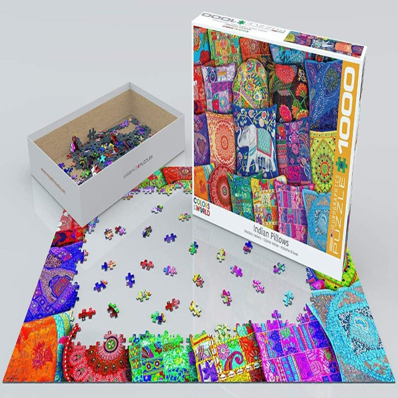 EuroGraphics Indian Pillows 1000 Pieces Puzzle