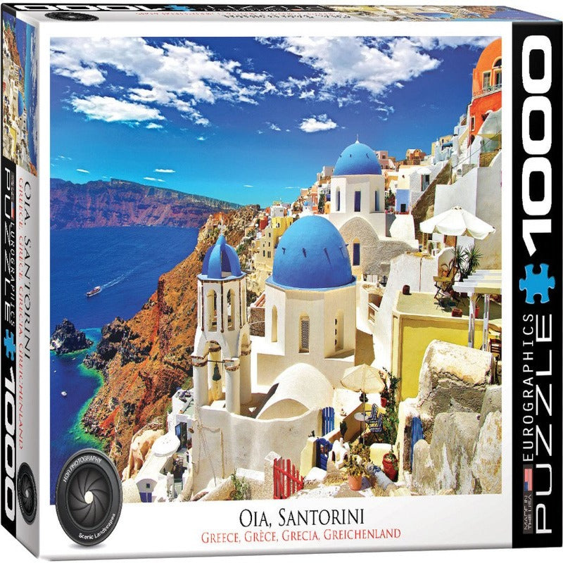 EuroGraphics Oia, Santorini Greece 1000 Pieces Puzzle