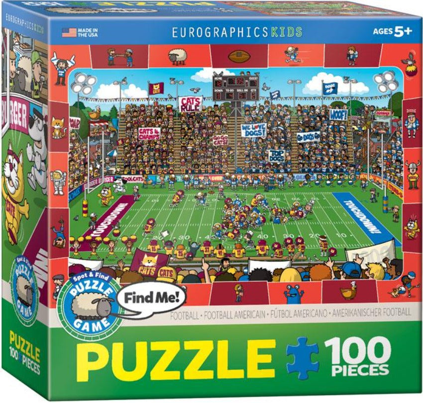 EuroGraphics Spot & Find Football 100-Piece Puzzle