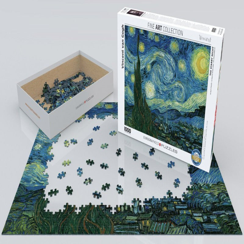 EuroGraphics Starry Night By Vincent Van Gogh 1000 Pieces Puzzle