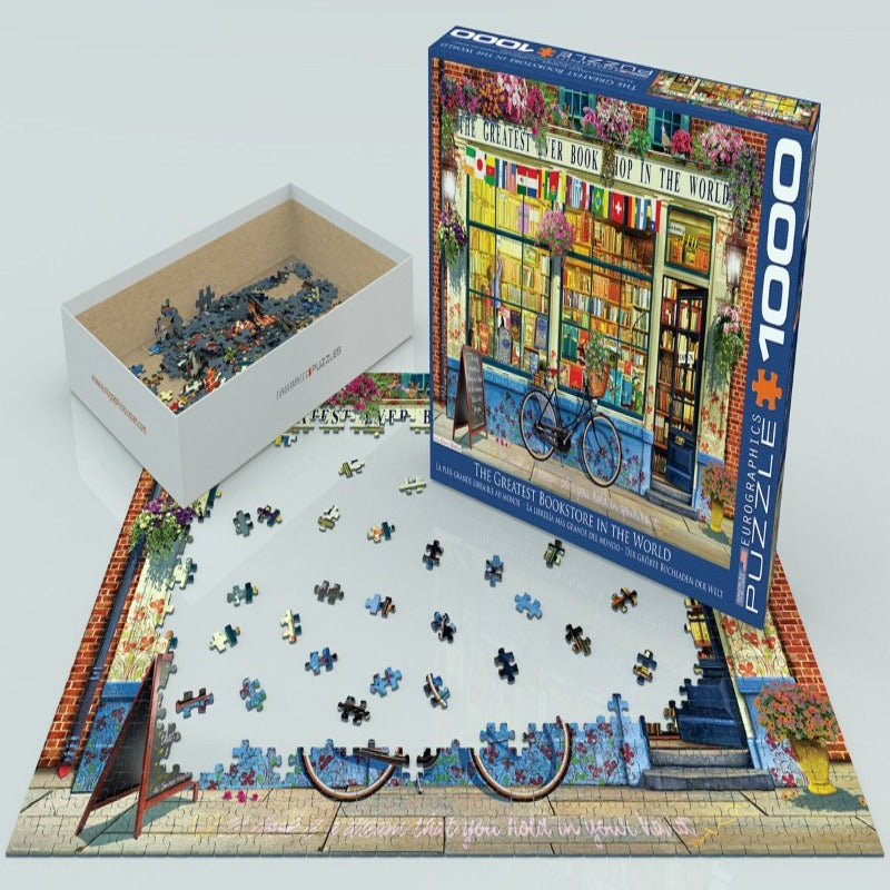 EuroGraphics The Greatest Bookstore in the World 1000 Pieces Puzzle