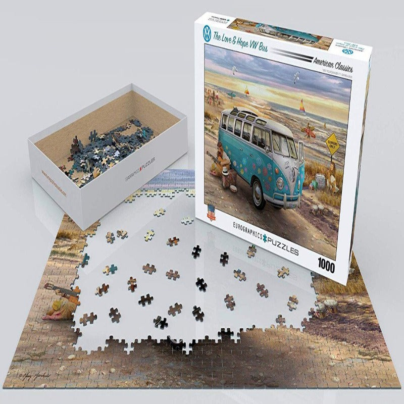 EuroGraphics The Love & Hope Vw Bus 1000 Pieces Puzzle