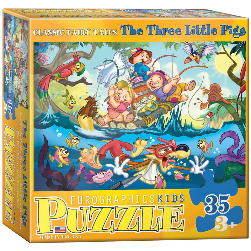 EuroGraphics The Three Little Pigs 35 Pieces Puzzle