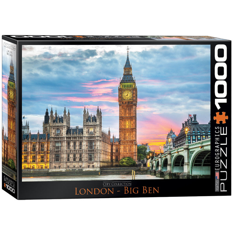 Eurographics London Big Ben Puzzle 1000 Pcs