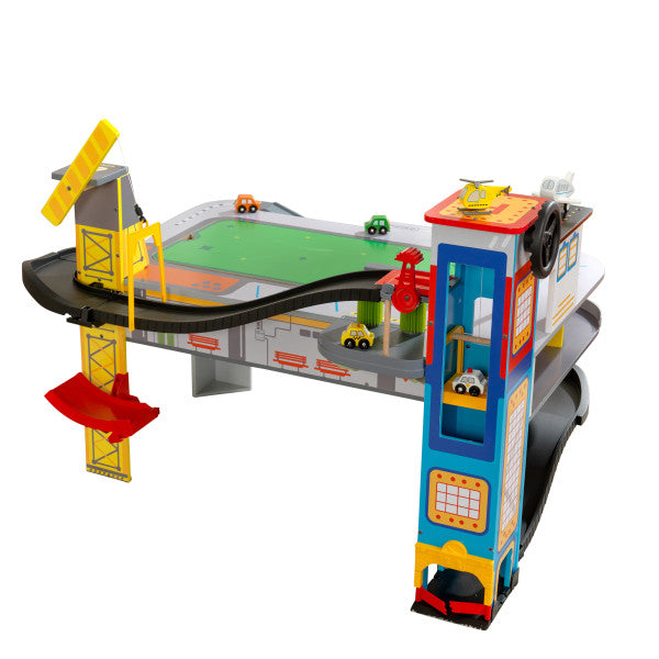 Freeway Frenzy Raceway Set and Table with EZ Kraft Assembly