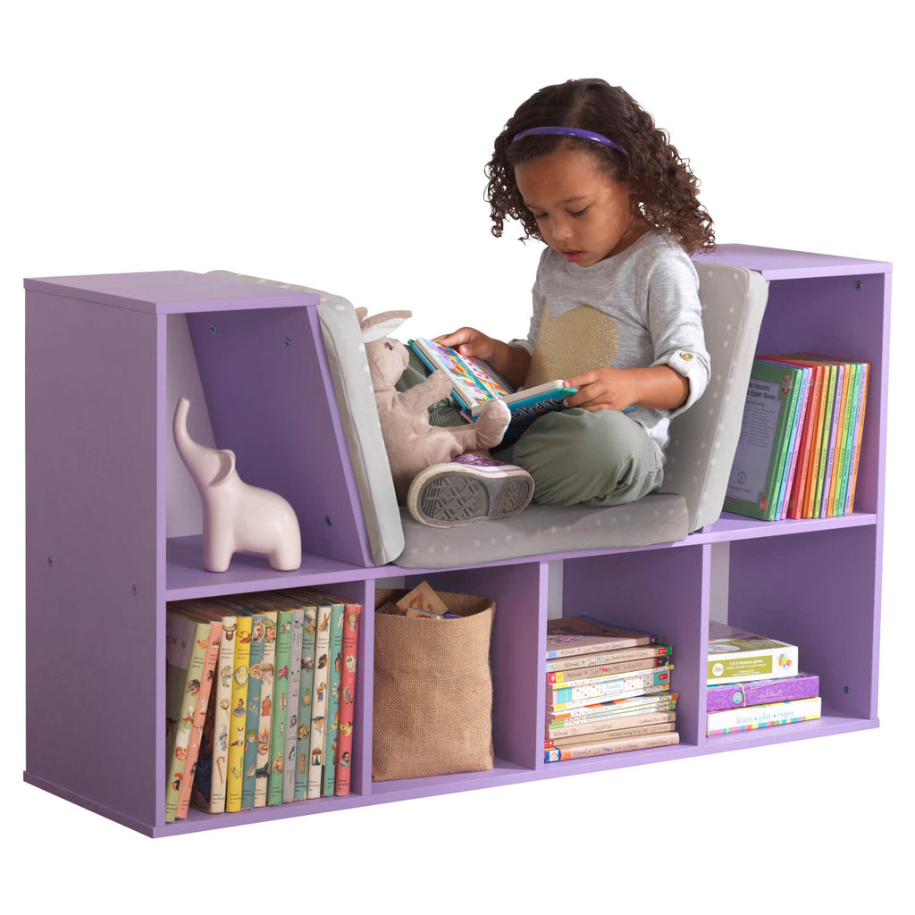 Kidkraft Bookcase with Reading Nook Lavender