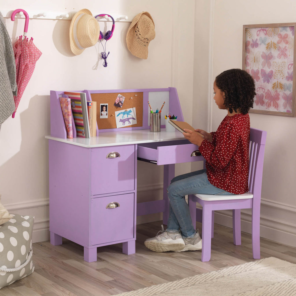 Kidkraft Study Desk with Chair Lavender