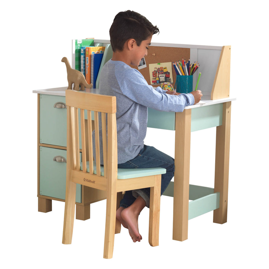 Kidkraft Study Desk with Chair Mint