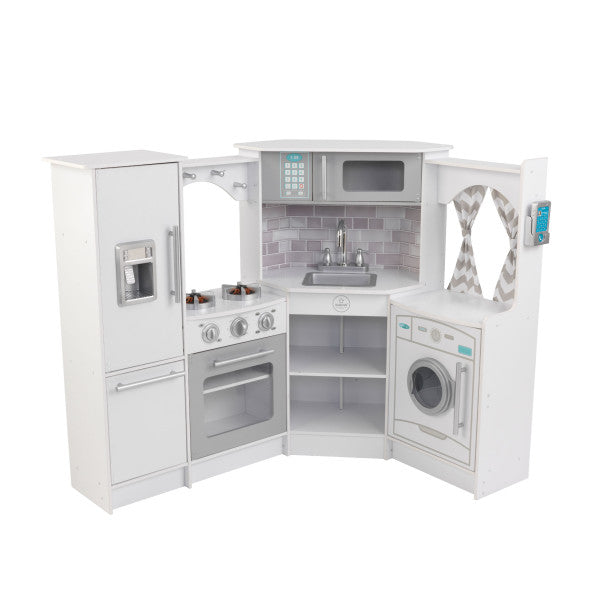Kidkraft Ultimate Corner Play Kitchen with Lights & Sounds - White