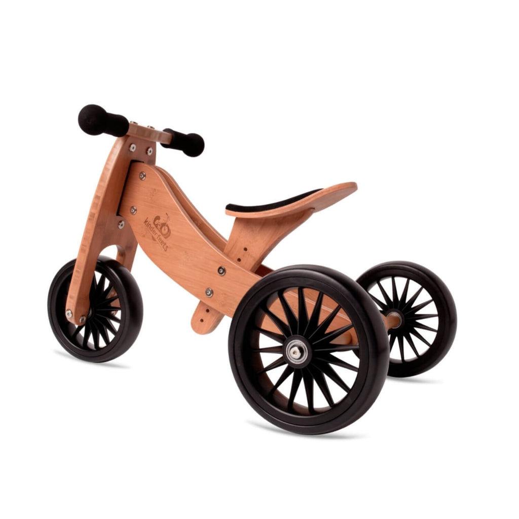 Kinderfeets 2-in-1 Tiny Tot PLUS Tricycle & Balance Bike - Bamboo 4