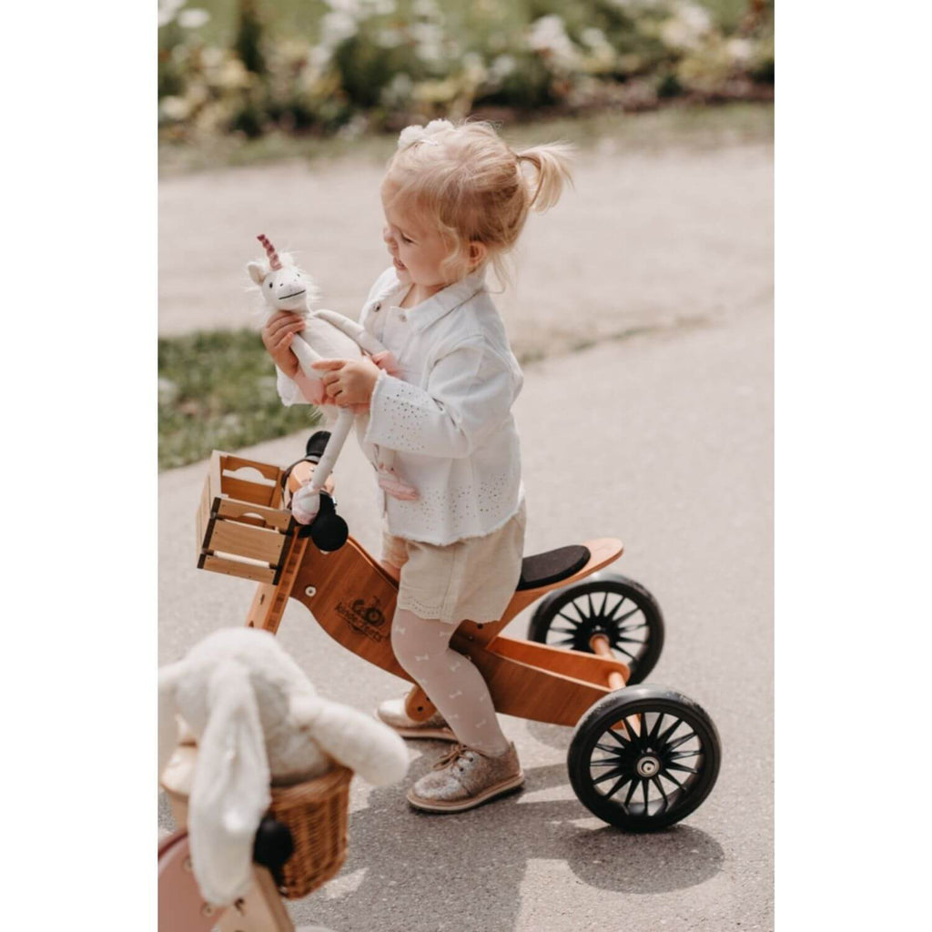 Kinderfeets 2-in-1 Tiny Tot PLUS Tricycle & Balance Bike - Bamboo