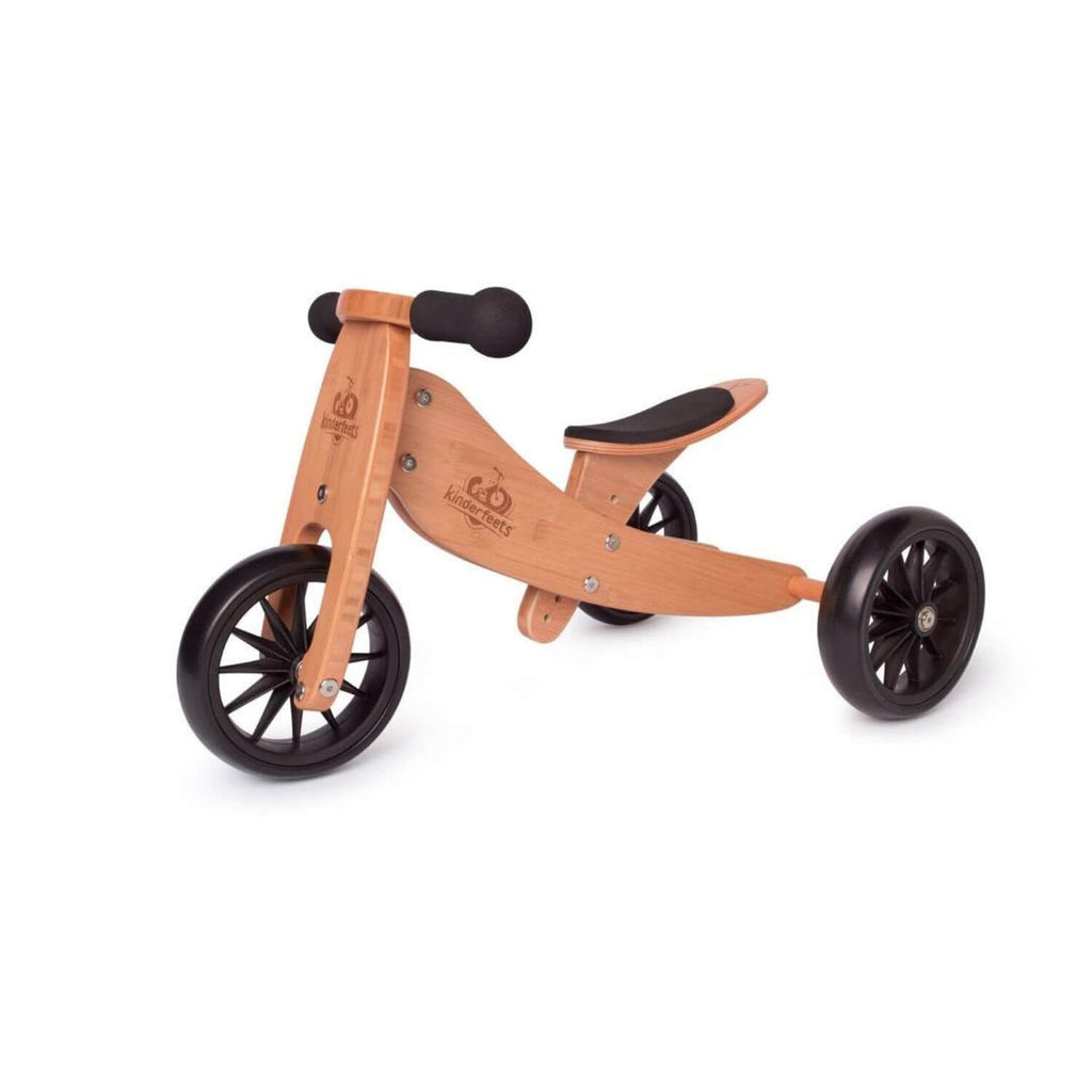 Kinderfeets 2-in-1 Tiny Tot Tricycle & Balance Bike - Bamboo